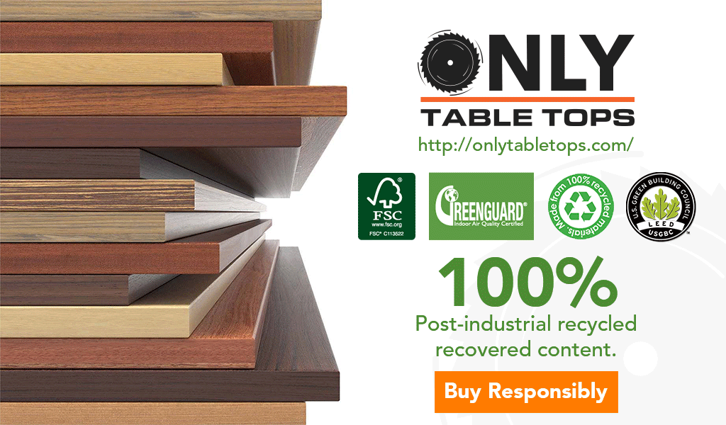 Green Building LEED Only Table Tops Certified Green Manufacturer USA