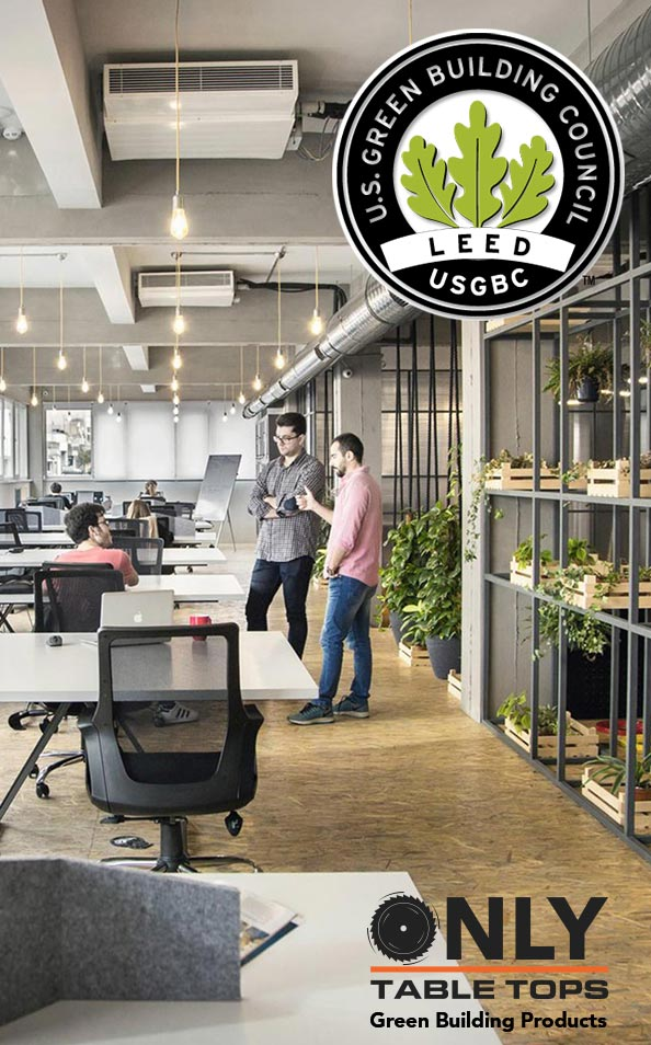 USGBC LEED Green Building Only Table Tops Certified Green Manufacturer USA